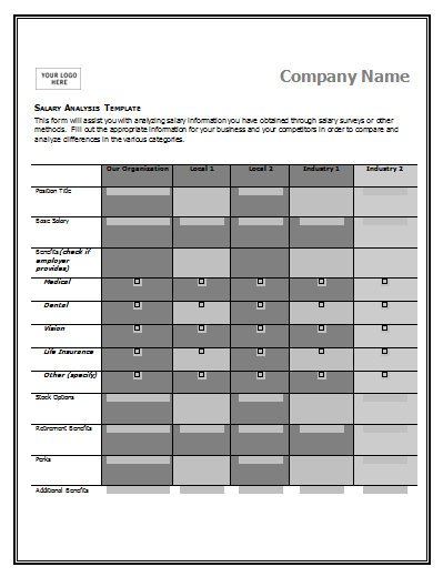 comparison t chart template word