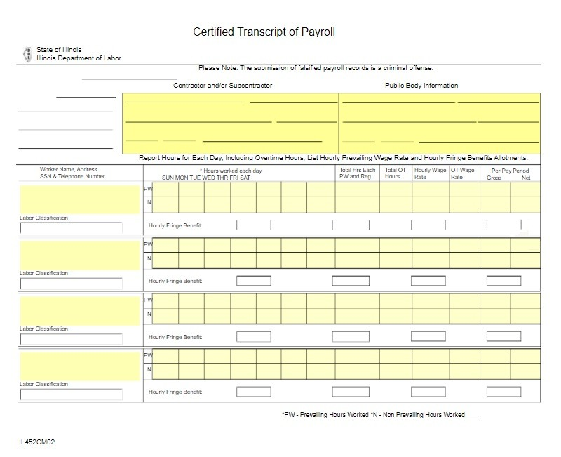 payroll template certified certificate pdf word templates excel examples payslip dol